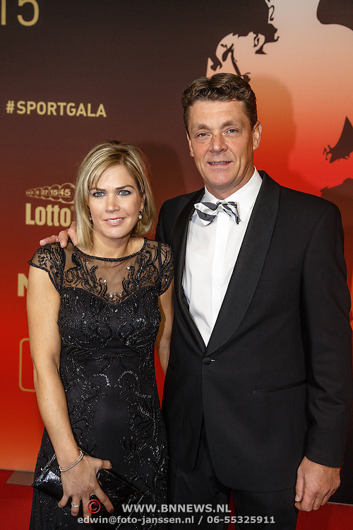 NLD/Amsterdam/20151215 - NOC / NSF Sportgala 2015, dressuur ruiter Jeroen Dubbeldam en partner Anni