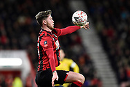 Jack Simpson (25) of AFC Bournemouth controls the ball during the The FA Cup match between Bournemouth and Arsenal at the Vitality Stadium, Bournemouth, England on 27 January 2020.