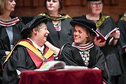 Paralympian Ellie Simmonds before she received an honorary degree from Swansea University during the degree ceremony for the College of Human and Health Sciences in the Great Hall at the university.