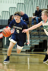 27 December 2018: Bloomington Central Catholic Saints v Rock Falls Rockets. State Farm Holiday Classic Coed Basketball Tournament at Normal West High School in Normal Illinois