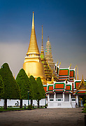 The Grand Palace is a complex of buildings at the heart of Bangkok, Thailand. The palace has been the official residence of the Kings of Siam (and later Thailand) since 1782. The king, his court and his royal government were based on the grounds of the palace until 1925. The present monarch, King Bhumibol Adulyadej (Rama IX), currently resides at Chitralada Palace, but the Grand Palace is still used for official events. Several royal ceremonies and state functions are held within the walls of the palace every year. The palace is one of the most popular tourist attractions in Thailand. It is situated on the banks of the Chao Phraya River at the heart of the Rattanakosin Island, today in the Phra Nakhon District. <br /> <br /> Rather than being a single structure, the Grand Palace is made up of numerous buildings, halls, pavilions set around open lawns, gardens and courtyards. Its asymmetry and eclectic styles are due to its organic development, with additions and rebuilding being made by successive reigning kings over 200 years of history. It is divided into several quarters: the Temple of the Emerald Buddha; the Outer Court, with many public buildings; the Middle Court, including the Phra Maha Monthien Buildings, the Phra Maha Prasat Buildings and the Chakri Maha Prasat Buildings; the Inner Court and the Siwalai Gardens quarter. The Grand Palace is currently partially open to the public as a museum, but it remains a working palace, with several royal offices still situated inside.