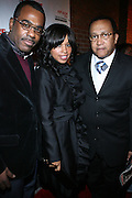 """l to r: Phil Pabon, Mashonda and Rev. Benjamin Chavis at The Russell Simmons and Spike Lee  co-hosted""""I AM C.H.A.N.G.E!"""" Get out the Vote Party presented by The Source Magazine and The HipHop Summit Action Network held at Home on October 30, 2008 in New York City"""