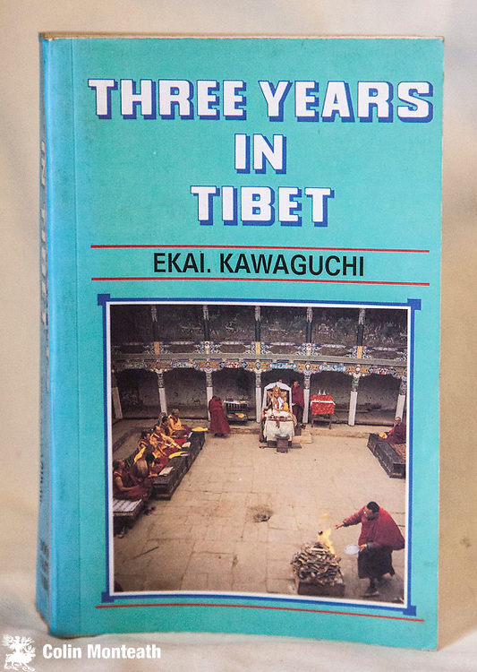 THREE YEARS IN TIBET, Ekai Kawaguchi, 700 page softbound, B&W plates, Book Faith India facsimile edition, 1995, from the very scarce 1st edition in early 1900s, Japanese monk travels in disguise across tibet in search of understanding of Tibetan Buddhism ( Arnold Heine collection) - $NZ50
