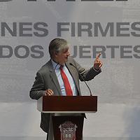 Toluca, México.- (Marzo 15, 2018).- Antonio Molpeceres, Coordinador Residente del Sistema de Naciones Unidas y Representante residente  del Programa de Naciones Unidas para el Desarrollo (PNUD) en México durante la presentación del Plan de Desarrollo del Estado de México 2017-2023. Agencia MVT / Crisanta Espinosa.