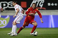 FOOTBALL - FRENCH CHAMPIONSHIP 2010/2011 - L2 - LEMANS FC v NIMES OLYMPIQUE - 14/03/2011 - PHOTO ERIC BRETAGNON / DPPI - THORSTEIN  HELSTAD (LEMANS)