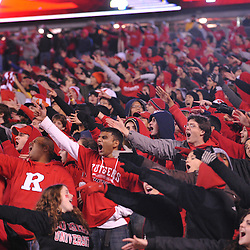 Oct 16, 2009; Piscataway, NJ, USA; Fans cheer a fourth quarter Rutgers touchdown during second half NCAA football action in Pittsburgh's 24-17 victory over Rutgers at Rutgers Stadium.