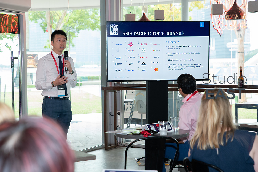 The Nielsen Report: Who's up, who's down?, with Robert Sawatzky, Head of Content, Campaign Asia-Pacific, during Asia's Top 1000 Brands in Esplanade, Singapore, Singapore, on 6 September 2018. Photo by Steven Lui/Studio EAST