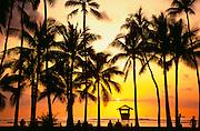 Sailboat, Waikiki, Oahu, Hawaii, USA<br />