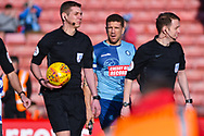 Adam El-Abd of Wycombe Wanderers (6) enters the pitch before the EFL Sky Bet League 1 match between Barnsley and Wycombe Wanderers at Oakwell, Barnsley, England on 16 February 2019.