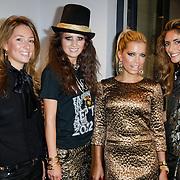 NLD/Amsterdam/20120905 - Lancering sieradenlijn Gassan Diamonds en Danie Bles gepresenteerd aan Sylvie van der Vaart, Deborah Leeser, model, Sylvie met Danie Bles en Danie