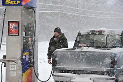 Heavy winter snow blankets the Lehigh Valley of Pennsylvania Thursday, February 13, 2013 near  Bethlehem, PA.