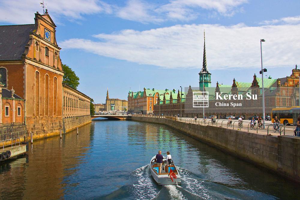 Holmans Church and Stock Exchange along Nyhavn Canal, Copenhagen, Denmark