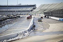 March 25, 2018 - Martinsville, Virginia, United States of America - March 25, 2018 - Martinsville, Virginia, USA: The STP 500 gets postponed due to snow at Martinsville Speedway in Martinsville, Virginia. (Credit Image: © Stephen A. Arce Asp Inc/ASP via ZUMA Wire)