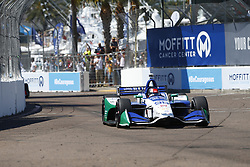 March 11, 2018 - St. Petersburg, Florida, United States of America - March 11, 2018 - St. Petersburg, Florida, USA: Marco Andretti (98) battles for position during the Firestone Grand Prix of St. Petersburg at Streets of St. Petersburg in St. Petersburg, Florida. (Credit Image: © Justin R. Noe Asp Inc/ASP via ZUMA Wire)