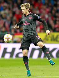 Arsenal FC's Nacho Monreal during Europa League semi-final, second leg in Madrid, Spain, May 3, 2018. Atletico won 1-0 and reaches the final. Photo by Acero/Alterphotos/ABACAPRESS.COM