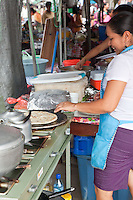 Snacks and street food available at the San Ignacio market in Belize.