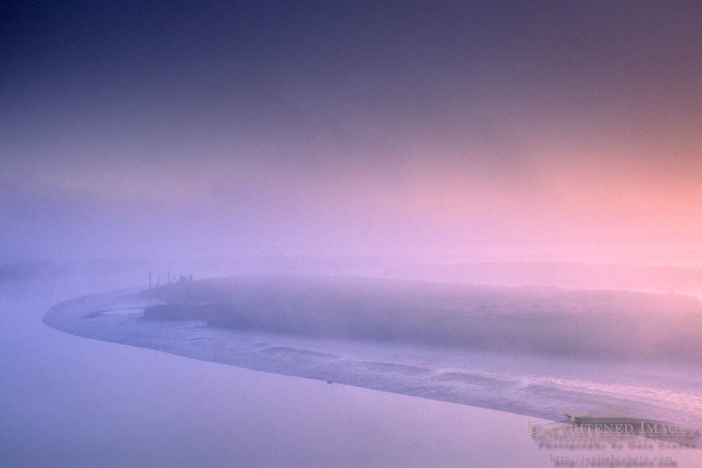 Morning mist over the tidal flats between Arcata and Manila, Humboldt County, CALIFORNIA