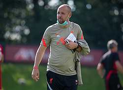 LIVERPOOL, ENGLAND - Wednesday, September 15, 2021: Liverpool's Under-23 manager Barry Lewtas during the UEFA Youth League Group B Matchday 1 game between Liverpool FC Under19's and AC Milan Under 19's at the Liverpool Academy. Liverpool won 1-0. (Pic by David Rawcliffe/Propaganda)