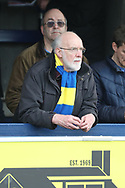 AFC Wimbledon fan looking on during the EFL Sky Bet League 1 match between AFC Wimbledon and Oxford United at the Cherry Red Records Stadium, Kingston, England on 10 March 2018. Picture by Matthew Redman.