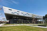 Chinese National Library, Beijing, China opened in August 2008. Architect: KSP Jürgen Engel Architekten