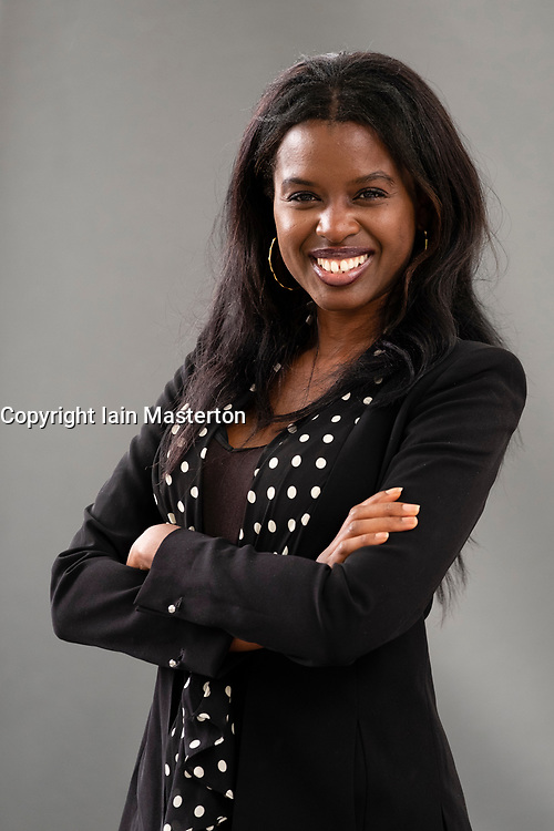 """Edinburgh, Scotland, UK; 15 August, 2018. Pictured;  Broadcaster June Sarpong. In her new book """"Diversify"""" she makes case that actively seeking the unfamiliar is the key to a brighter future"""