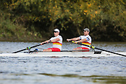 Crew: 31 - Brown / Stevenson - Tideway Scullers School - Op 2- Championship <br /> <br /> Pairs Head 2020
