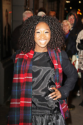 Cynthia Erivo, Perfect Nonsense - Press Night, Duke of York's Theatre, London UK, 12 November 2013, Photo by Brett Cove © Licensed to London News Pictures. Photo credit : Brett D. Cove/Piqtured/LNP