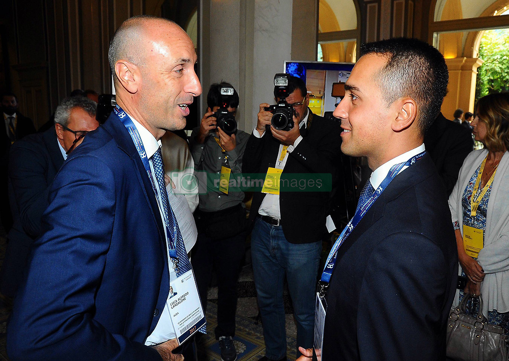 Italy, Rome - June 14, 2018.Luca Lanzalone was put under house arrest on Wednesday in an inquiry into the construction of a long-delayed new soccer stadium for AS Roma..Italy, Cernobbio - September 2, 2017.Luigi Di Maio (R) of the 5-Star Movement and Luca Lanzalone (L) chairman of Italian utility Acea. (Credit Image: © Maule/Fotogramma/Ropi via ZUMA Press)