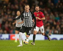 Bibras Natcho of Partizan in action - Mandatory by-line: Jack Phillips/JMP - 07/11/2019 - FOOTBALL - Old Trafford - Manchester, England - Manchester United v Partizan - UEFA Europa League