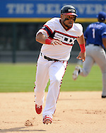 CHICAGO - APRIL 24:  Melky Cabrera #53 of the Chicago White Sox runs the bases against the Texas Rangers on April 24, 2016 at U.S. Cellular Field in Chicago, Illinois.  The White Sox defeated the Rangers 4-1.  (Photo by Ron Vesely)   Subject: Melky Cabrera