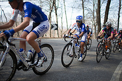 Coryn Rivera (UHC Cycling Team) rides one of the smaller climbs of the Trofeo Alfredo Binda - a 123.3km road race from Gavirate to Cittiglio on March 20, 2016 in Varese, Italy.