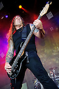Machine Head performing on the Mayhem Festival at Verizon Wireless Amphitheater in St. Louis, Missouri on July 19, 2011. © Todd Owyoung.