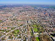 Nederland, Noord-Holland, Haarlem;  03-23-2020; Haarlem, Kleine Hout (de Haarlemmerhout) met Provinciehuis in Paviljoen Welgelegen (Provincie Noord-Holland aan de Dreef). Binnenstad en Het Spaarne in de achtergrond.<br /> Haarlem, Kleine Hout (the Haarlemmerhout) with Provincial House in Pavilion Welgelegen (Province of North Holland on the Dreef).<br /> <br /> luchtfoto (toeslag op standard tarieven);<br /> aerial photo (additional fee required)<br /> copyright © 2020 foto/photo Siebe Swart