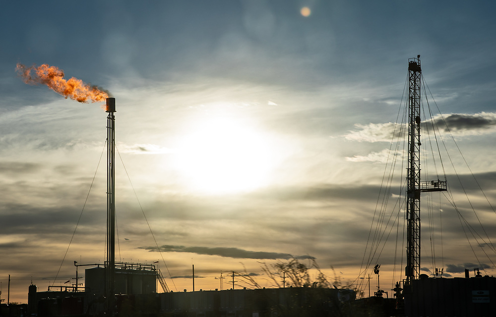 Flare in the Permian Basin in Texas.