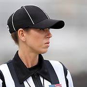 NCAA Line Judge Sarah Thomas prior to an NCAA football game between the Memphis Tigers and the Central Florida Knights at Bright House Networks Stadium on Saturday, October 29, 2011 in Orlando, Florida. (AP Photo/Alex Menendez)