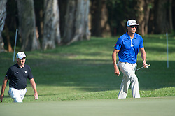 December 10, 2016 - Hong Kong, Hong Kong SAR, China - Rafa Cabrera Bello (R) from Spain is tied on 11 under para with Australia's Sam Brazel (L) as they go into the final.Day 3 of the Hong Kong Open Golf at the Hong Kong Golf Club Fanling..© Jayne Russell. (Credit Image: © Jayne Russell via ZUMA Wire)