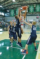 27 December 2017: State Farm Holiday Classic Coed Basketball Tournament at Shirk Center, Bloomington Illinois<br /> <br /> SFHC - Small Boys Aurora Christian Eagles v Prairie Central Hawks