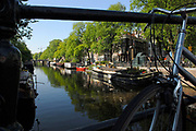 Amsterdam, The Netherlands. Prinsengracht. One of the canals in the centre of Amsterdam.