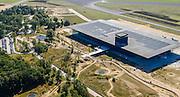 Nederland, Utrecht, Gemeente Soest, 30-09-2015. Nationaal Militair Museum op de voormalige vliegbasis Soesterberg. Het NMM is ontworpen door Claus en Kaan Architecten in samenwerking met Kossmann.dejong en H+N+S en wordt beheerd door Heijmans PPP (public–private partnership).<br /> National Military Museum at the former Soesterberg airbase. <br /> luchtfoto (toeslag op standard tarieven);<br /> aerial photo (additional fee required);<br /> copyright foto/photo Siebe Swart