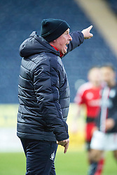 Falkirk's manager Peter Houston. Falkirk 1 v 1 Ayr United, Scottish Championship game played 14/1/2017at The Falkirk Stadium .