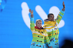 The XXII Winter Olympic Games 2014 in Sotchi, Olympics, Olympische Winterspiele Sotschi 2014<br /> Aliona Savchenko and Robin Szolkowy (Germany), bonze medal free skating program in the pair skating competition at the XXII Olympic Winter Games in Sochi.