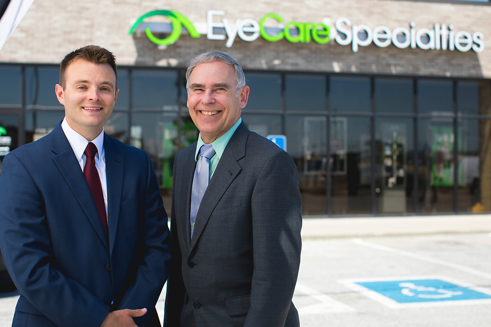 2017 June 09 - Photos for EyeCare Specialties in Fremont, NE.  Mixture of staff, interiors, and then lifestyle imagery for advertising.