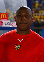 Stephen Keshi Head Coach ( He apprently had a row with Arsenal's Emmanuel Adebayor after the match. The Arsenal Player has been sent home in disgrace)<br />Togo 2005/06<br />25th MTN Africa Cup Of Nations Egypt 2006<br />Togo V RD DU Congo  21/01/06<br />Photo Robin Parker Fotosports International