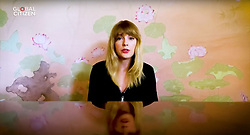 Capture - Taylor Swift seen performing live on a smartphone as One World Together At Home is streaming live on April 19, 2020. One World Together At Home is a campaign rallying funds for the COVID-19 Solidarity Response Fund for the World Health Organization. The WHO's mission for COVID-19 is to prevent, detect, and respond to the pandemic. Photo via ABACAPRESS.COM