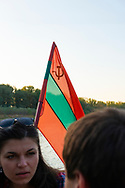 Natalia and Ion, who live in the Moldovan capital Chisnau, talk during a one-hour Dniester River cruise, which they've included as part of their day-long visit to the breakaway republic of Transnistria.<br /> <br /> Transnistria was formed in 1992 after the dissolution of the USSR, when tensions between Moldova and the Transnistrian territory escalated into a military conflict. A ceasefire several months later ended hostilities but did not resolve the political conflict. Today Transnistria is an unrecognized but de facto independent republic. <br /><br />(September 10, 2016)