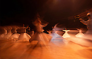 Turkey, Istanbul, Whirling Dervish dancers