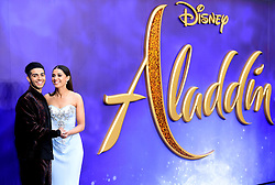 Mena Massoud and Naomi Scott attending the Aladdin European Premiere held at the Odeon Luxe Leicester Square, London.