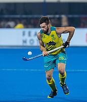BHUBANESWAR, INDIA - Trent Mitton (Aus)  , England v Australia for the bronze medal during the Odisha World Cup Hockey for men  in the Kalinga Stadion.   COPYRIGHT KOEN SUYK