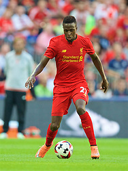 LONDON, ENGLAND - Saturday, August 6, 2016: Liverpool's Divock Origi in action against Barcelona during the International Champions Cup match at Wembley Stadium. (Pic by David Rawcliffe/Propaganda)