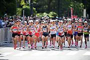 Runners compete during the Marathon Grand Championship, Sunday Sept. 15 2019, in Tokyo. From left: Ryo Kiname, Kensuke Horio, Taku Fujimoto, Yuma Hattori, Jo Fukuda, Suguru Osako, Chihiro Miyawaki, Yuki Sato, Hiroto Inoue and Ryu Takaku. (Agence SHOT/Image of Sport)